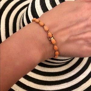 QVC Coral 14k gold bracelet
